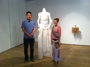 Myself with the artist, Mrs. Donna Louisa Han and her daughter.